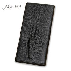 Genuine Leather Men Long Crocodile Wallet Purse Luxury Compartment Zipper Coin Card Holder Clutch Portfolio women Dollar Price #clothing,#shoes,#jewelry,#women,#men,#hats,#watches,#belts,#fashion,#style