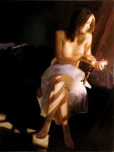 Saidov Aydemir 1979 Russian Realist painter Sleeping beauty. https://www.facebook.com/media/set/?set=a.463603277052495.1073741837.217035495042609=1