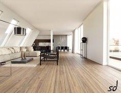 slanted ceiling living