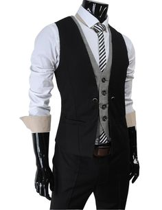 Layered style slim vest waist coat. Me gets.
