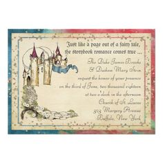 Shop Princess Fairy Tale Invitations created by TerraCosmos. Create Your Own Invitations, Custom Invitations, Invitation Cards, Shower Invitations, Fairy Tale Theme, Fairy Tales, Fairytale Wedding Invitations, Bridesmaid Luncheon, Princess Castle