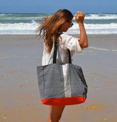 Tendance Sac 2017/ 2018 : Big Tote LACANAU BEACH. Grand sac de plage par BientotDimanche