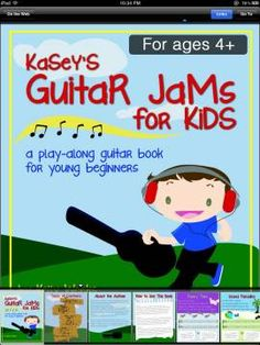 Kasey's Guitar Jams for Kids - an app helping children to learn to play guitar. Contains 17 play along songs with instructions how to play and lyrics.  Original Appysmarts score: 68/100