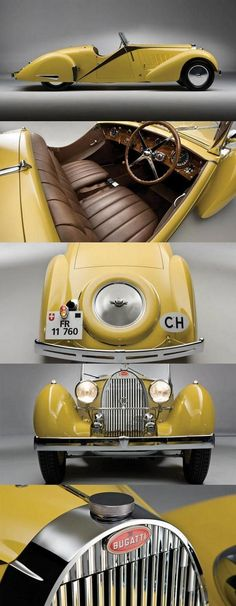 1935 Bugatti Type 57 Grand Raid Roadster by venessa.juani 1935 Bugatti Type 57 Grand Raid Roadster by venessa. Bugatti Type 57, Bugatti Cars, Sexy Cars, Hot Cars, Vintage Cars, Antique Cars, Vintage Prints, Volkswagen, Old Trucks