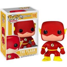 Part of the Pop! Heroes series The Flash joins the Funko family! The Flash vinyl figure stands approximately 3 ¾ inches tall and comes packaged in a window display box. Collect all nine super heroes in the Pop! Funko Pop Marvel, Marvel Dc, Figurines D'action, Dc Universe, Dc Comics, Pop Vinyl Figures, Funko Flash, Action Toys, Action Figures