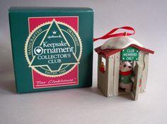 "Hallmark Keepsake Ornament Collector's Club, ""Our Clubhouse"", 1988."