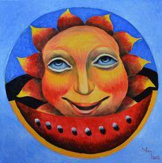 ARTFINDER: SMILE SUN by CHIFAN CĂTĂLIN ALEXANDRU - OIL ON CANVAS PAINTING, 2015  40 X 40 cm