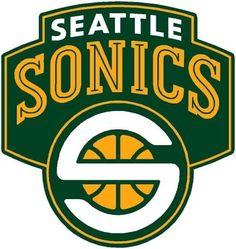 Seattle SuperSonics - Seattle's former Basketball team were NBA Champions in 1979 Sports Team Logos, Sports Teams, Sports Pics, Logo Basketball, Basketball Cards, Baseball Jerseys, Basketball Court, Soccer, Football