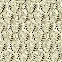 How to knit the Elvish Leaf stitch in the round. It is a beautiful lace pattern. Cast on a multiple of 10 stitches. Slip Stitch Knitting, Lace Knitting Stitches, Lace Knitting Patterns, Knitting Blogs, Lace Patterns, Loom Knitting, Free Knitting, Baby Knitting, Stitch Patterns