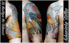 Tatouage japonais Carpe Koi Sushi Sebaninho Tattoo