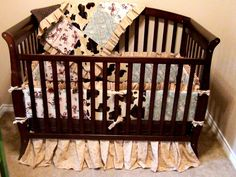 Western Patch Work Crib Bedding Set 6 Pieces