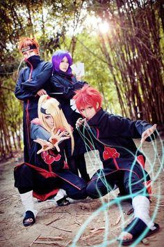 Akatsuki cosplay. I love how they are all positioned and they look so badass