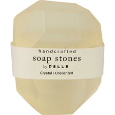 Pelle Crystal/Unscented Nugget Soap - Small ($5) ❤ liked on Polyvore featuring beauty products, bath & body products, body cleansers, fillers, beauty, makeup and backgrounds