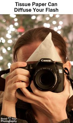 Tips for Mastering On-Camera Flash - tissue paper can diffuse your flash Boost Your Photography Photography Lessons, Flash Photography, Photography Camera, Photography Equipment, Outdoor Photography, Photography Tutorials, Digital Photography, Amazing Photography, Nature Photography