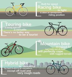 It is vital to have a bike that fits you properly. This post shows how to pick the right size hybrid bike, and includes an infographic.