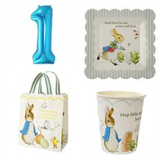 Stylishly Traditional & perfect for All Occasions #peterrabbitparty #firstbirthday #beatrixpotter #partyware @merimeriparty full range www.theoriginalpartybagcompany.co.uk #OPBCo