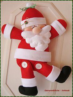 Papai noel em feltro; Santa Claus Felt