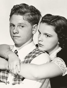 Love these two! Mickey Rooney & Judy Garland