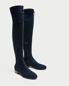 ZIPPED FLAT OVER-THE-KNEE BOOTS-View all-SHOES-WOMAN | ZARA Ireland