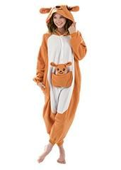 Emolly Fashion Kangaroo Animal Onesie - Soft and Comfortable with Pockets! Fun As a Costume or Pajamas - for Men Women Teens Adults! 5% of Sales Donated to San Diego Zoo Global Wildlife Conservancy