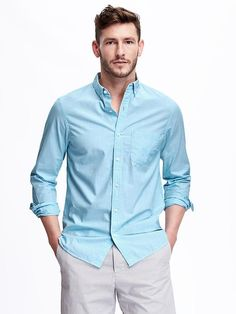 Regular-Fit Oxford Shirt for Men