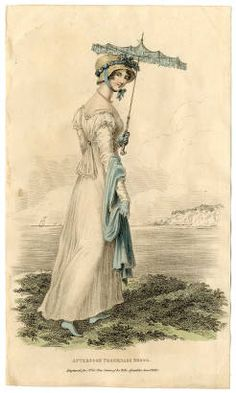 Women 1800-1819 Part 1, Plate 108 :: Costume Institute Fashion Plates: seems to be from after 1810, but it's pretty.