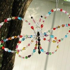 Crystal Butterfly Garden Sun Catcher {with detailed tutorial!}