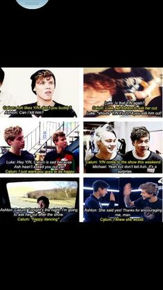 They would be so supportive of each other's relationships. Ashton Irwin Imagines, 5sos Ashton, 5sos Imagines, 1d And 5sos, Louis Imagines, 5sos Memes, 5sos Funny, 5 Seconds Of Summer Imagines, 5sos Preferences
