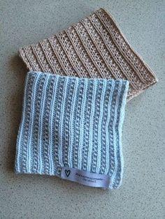 Delikate kluter, type A. Knitting Stitches, Knitting Patterns Free, Free Pattern, Drops Design, Homemade Potholders, Knit Dishcloth, Knit Picks, Modern Boho, Handicraft