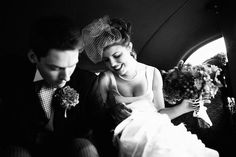 Not rustic but a vintage twenties wedding. Photo by Poser Image.