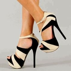 Creative Ladies Fashionable Shoes Black And White -