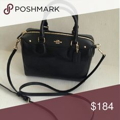 "COACH Cross Grain Leather Satchel Crossbody Bag COACH F36624 NEW WITH TAGS  MINI BENNETT SATCHEL IN CROSSGRAIN LEATHER  BLACK  Details: Inside zip multifunction pocket Zip-top closure, fabric lining Handles with 4"" drop   Black Leather with Gold tone hardware  Longer strap with 22"" for shoulder or crossbody wear Approximate measurements 9 (L) x 7 (H) x 5 (W)  Authentic: GIFT RECEIPT FROM MY PURCHASE AT COACH IS INCLUDED Coach Bags Shoulder Bags"