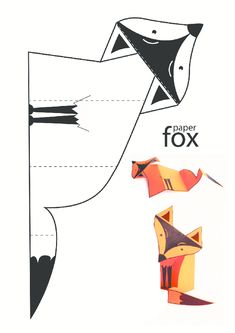 The activity of the fox pattern worksheet, forms … – … - Happy Tiere Easy Arts And Crafts, Crafts To Do, Crafts For Kids, Fox Crafts, Animal Crafts, Paper Art, Paper Crafts, Paper Animals, Printable Crafts
