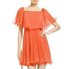 BCBG Pleated Cocktail Dress