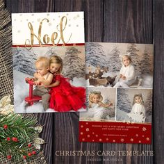 Christmas Card Template  for Photographers and Personal Use
