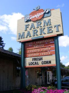 "Welcome to Hennigar's Farm Market, where we are celebrating our 66th season!. Located near Wolfville in the eastern Annapolis Valley of Nova Scotia, Hennigar's needs no introduction to many locals; a stop here is like ""coming home."" Browse the store for giftware, plants, baked goods, produce or line up for some of our famous ice-cream; have some delicious cookhouse food, or wander through our park and nature trail. We have a little something for everyone!"