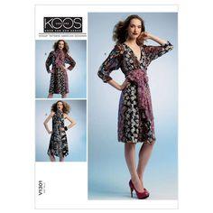 Misses' Dress and Tie-ZZ (LRG-XLG-XXL) Pattern