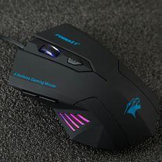 Regolazione silenzioso Glassato Ergonomia 2400 dpi 6D USB Ottico con filo Computer Gaming Mouse Mouse per PC Laptop Computer per Dota 2