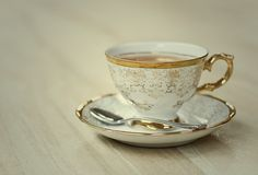 Gold trimmed Cup & Saucer