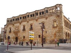 Palacio del Infantado in Guadalajara, Spain.  Now it's a public library.  I can't believe that I never went inside when I was there!