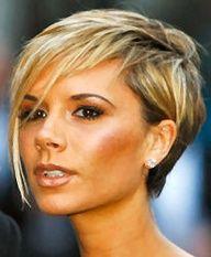 Victoria Beckham short hairstyle. If I ever went back short.