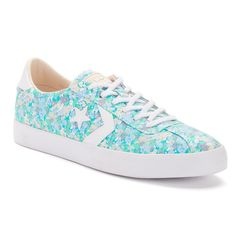 Women's Converse Breakpoint Floral Shoes, Size: 10, Light Blue