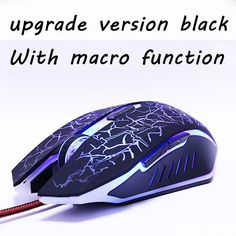 Darri USB Optical Wired Gaming Mouse mice for Computer PC Laptop Pro Gamer Mouse Dota 2/ LOL black/ white