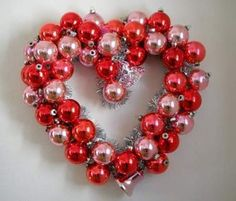 Love the idea of using Christmas ornaments for this wreath. So cute!