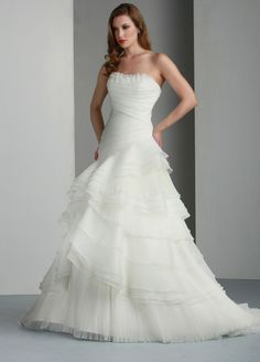 Wedding Dresses, Bridesmaid Dresses, Prom Dresses and Bridal Dresses Davinci Wedding Dresses - Style 50015 - Davinci Wedding Dresses, Spring Asymmetrical Strapless Organza wedding dress features tiered skirt and pleated bodice. Layered Wedding Dresses, Disney Wedding Dresses, Wedding Dresses 2014, Luxury Wedding Dress, Wedding Dress Styles, Bridal Dresses, Wedding Gowns, Bridesmaid Dresses, Dresses 2016