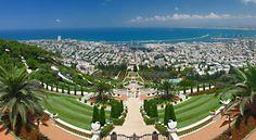 The beautiful Baha'i Garden in Haifa