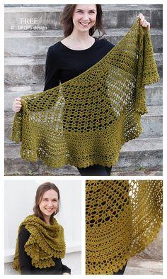 Free Knit Shawl Patterns, Crochet Shawl Free, Crochet Wrap Pattern, Crochet Shawls And Wraps, Crochet Scarves, Crochet Clothes, Free Crochet Poncho Patterns, Knitted Shawls, Crochet Circles
