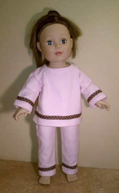 0acb1ca285 Items similar to Pink Flannel Pajamas fits 18
