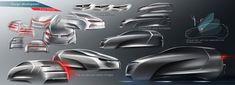 Volkswagen Golf Vision 2020 Concept - Design Sketch development
