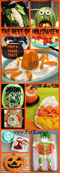 Healthy Halloween: Fruit and Veggie Trays halloween food recipes party platter halloween recipes ideas food Halloween 2018, Halloween Fruit, Healthy Halloween Treats, Fete Halloween, Halloween Dinner, Halloween Food For Party, Halloween Birthday, Baby Halloween, Holiday Treats